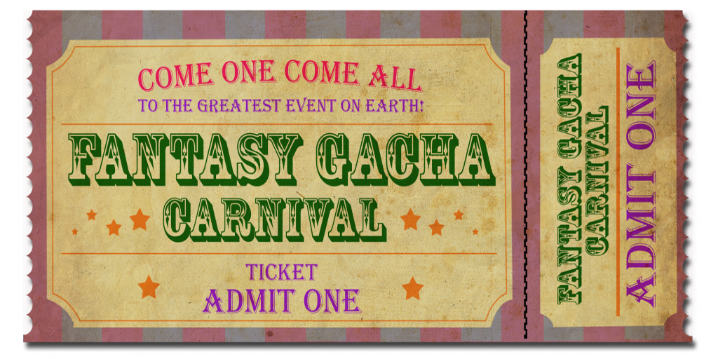 Fantasy Gacha Carnival event - sponsor